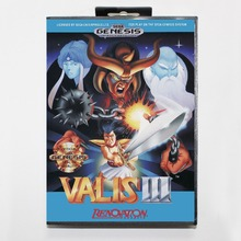 Valis III 16 bit MD card with Retail box for Sega MegaDrive Video Game console system