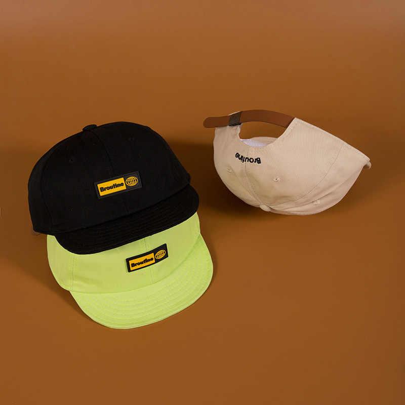 2019 جديد جودة عالية للجنسين القطن Snapback قبعة رسالة التطريز رجل شقة حافة قبعة بيسبول موضة الهيب هوب قصيرة قبعات عريضة الحافة