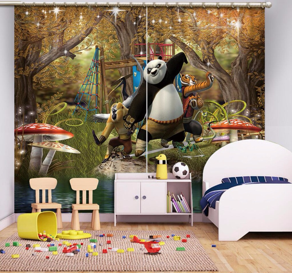 Blackout Window Curtains For Children Room Animal Decoration 3D Curtains For Living Room Or Bedroom Oil Painting Curtains