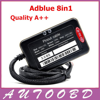 2017 New AdBlue Emulator 8in1 V3.0 with NOx sensor support euro 6 adblue emulator 8 in 1 F0rd and other 7 kind truck Adblue 8in1