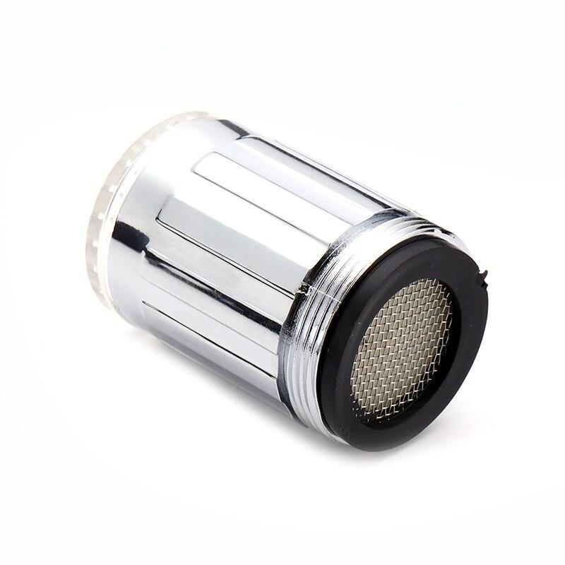 7 цветов RGB меняющийся светодиодный светильник для воды, душевой кран, кухонный датчик давления, аксессуары для ванной комнаты