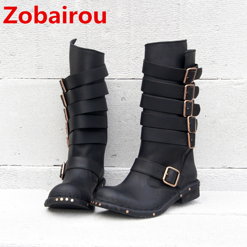 Zobairou Real Photo Western classic Studded Thigh High Biker Cowboy Boots Rain Boots Winner Leather Botas Shoes Woman Stockings zobairou hot design suede ankle riding boots women western cowboy shoes woman fashion real genuine leather dicker boots 34 41