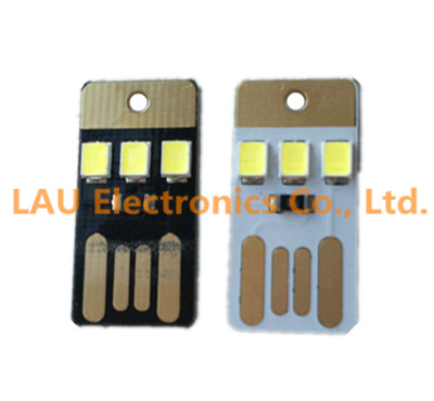 Black Led Lamp Bulb Keychain Pocket Card Mini Led Night Light Portable Usb Power Integrated Circuits