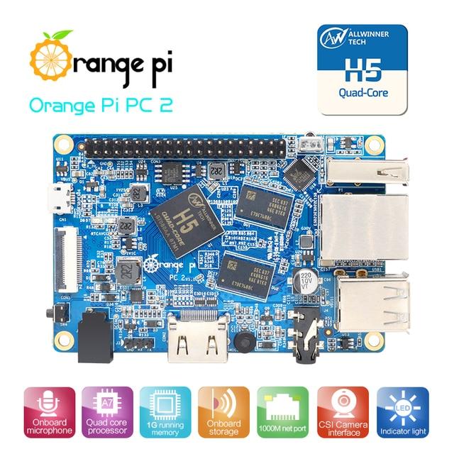 Nouveau! Orange Pi PC2 H5 64bit prend en charge la vente en gros de mini-pc linux et android Lubuntu est disponible