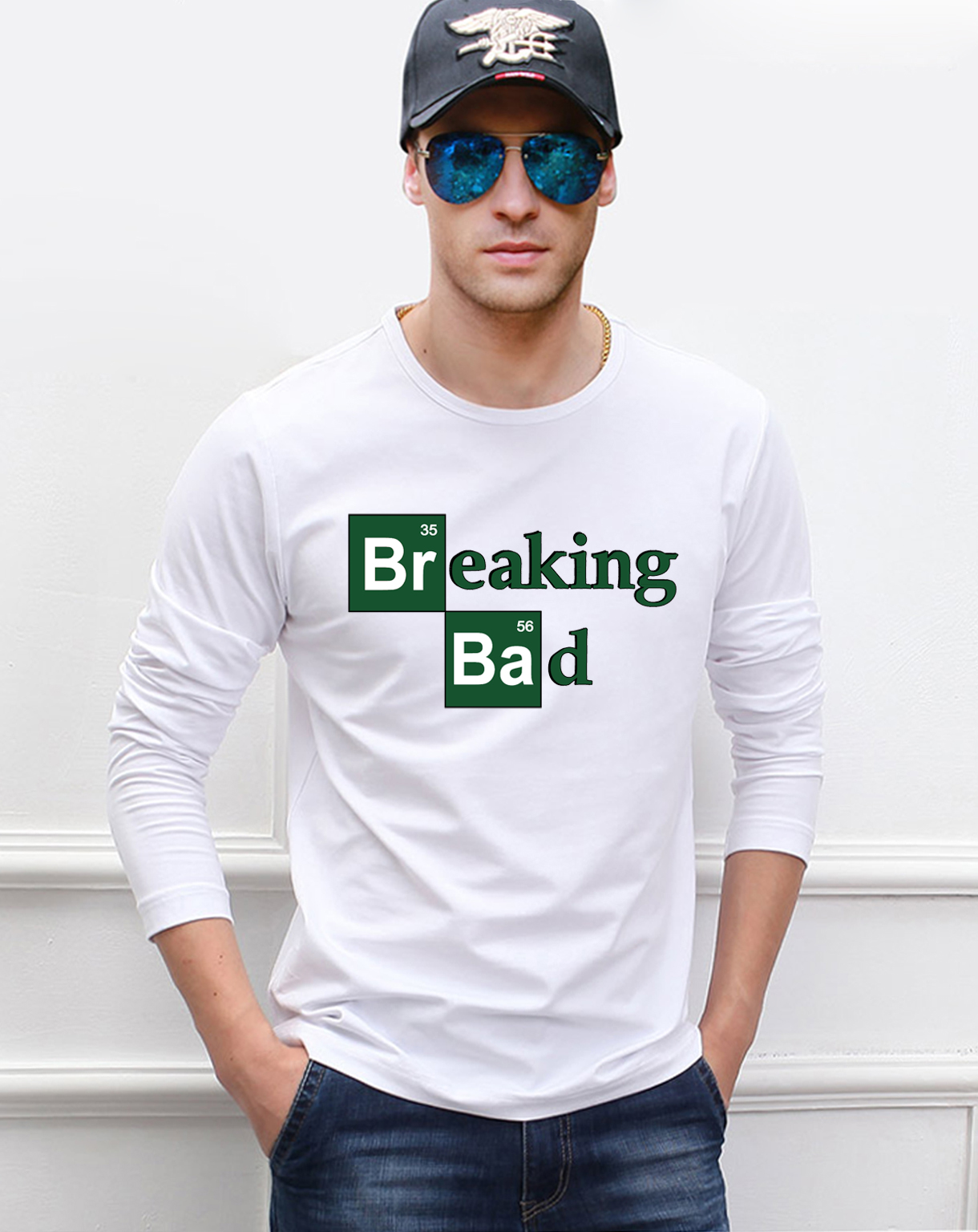Hot Sale Breaking Bad men's long sleeve T-shirts 2019 new spring 100% cotton high quality fashion hip hop fitness men top tees