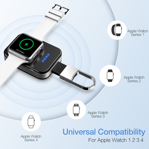 Image 4 - RAXFLY Wireless Charger For Apple Watch 4 3 2 1 Fast Charger Qi Wireless Charging For i Watch Portable 950mAh Power Bank Charge