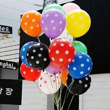 10 шт латексные шары в черно-белую точку в красный горошек, вечерние шары, подарки на день рождения, свадебные шары с волнистыми точками, декор для детского душа