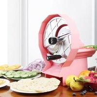 Manual Commercial Fruit Slicer Machine 2 Tubes 0.8 6mm Adjustable Thickness Lemon Apple Slicer Vegetable Cutter Chopper