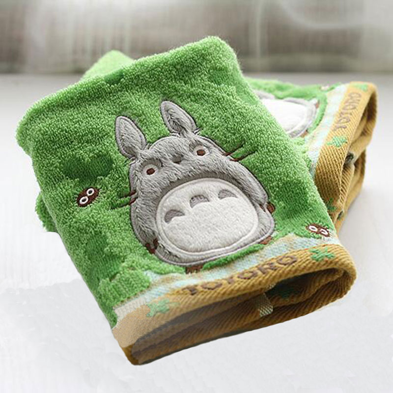SexeMara Cotton Cartoon Animation Totoro Baby Wipe Towel Cartoon Absorbent Face Towel Soft Baby Handkerchief For Baby Girls Boys ...