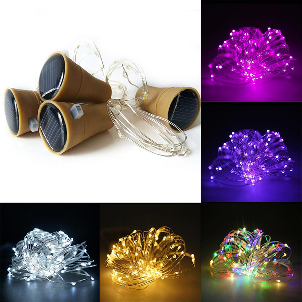 KAIGELIN 10 PCS Lights LED Solar Glass Bottle Stopper Copper Wire String Lights Dropship ...