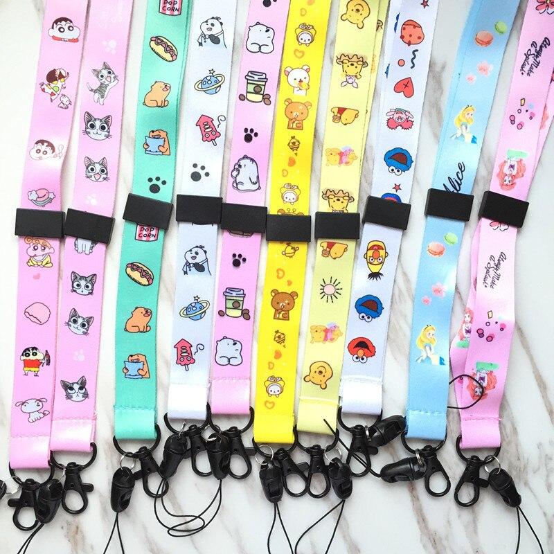 Cute Bear Cartoon Cat Neck Strap Lanyards For Keys ID Card Gym Mobile Phone Straps USB Badge Holder DIY Hang Rope Lariat Lanyard