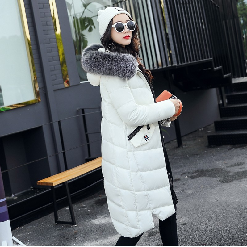 Womens Winter Jackets And Coats 2017 Thick Warm Hooded Down Cotton Padded Parkas For Women's Winter Jacket Female Manteau Femme купить