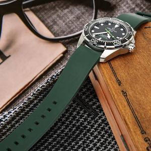 Image 4 - MAIKES Fashion Watchband 20mm 22mm 24mm Fluoro Rubber Watch Band Watch Accessories Watch Strap For Huawei GT Seiko Citizen Watch