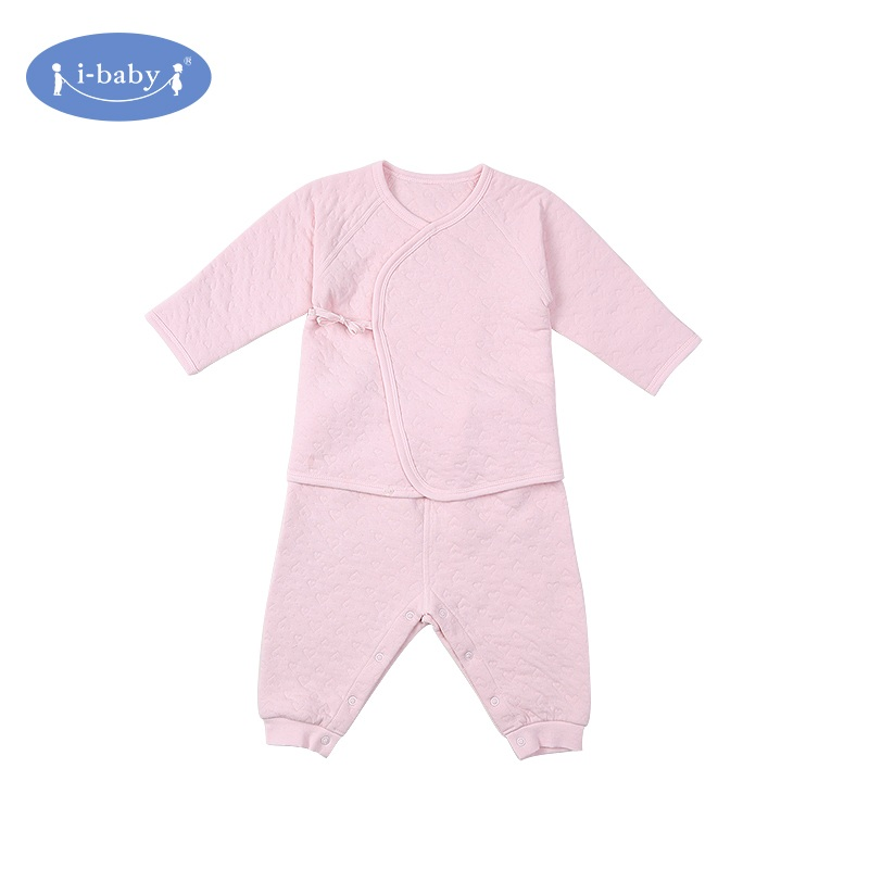 i-baby Baby Clothes Set 100% PIMA Cotton Rompers Baby Boy Girl Clothes Infant Bodysuit Pants Matelasse Jacquard Newborn Ropa