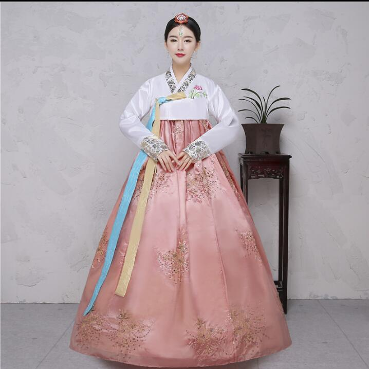 25a0ae592 4 Colors Sequins Korean traditional costume Women Elegant Hanbok Korean  Dress -in Asia & Pacific Islands Clothing from Novelty & Special Use on ...