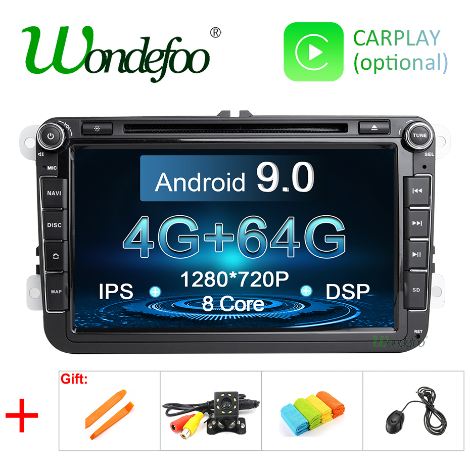 IPS DSP Android 9 0 64G 2 DIN DVD player For Seat Altea Leon Toledo VW