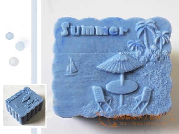 Silikonová forma na mýdlo Sandbeach Ručně vyráběná silikonová forma 3d DIY Řemeslné formy S100