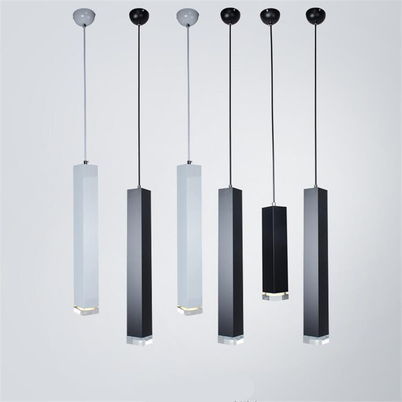Modern Nordic Black/White Aluminum Column Led 3W Pendant Light for Dining Room Living Room Bar flat usb 2 0 male to micro usb male data sync charging cable orange white 120cm