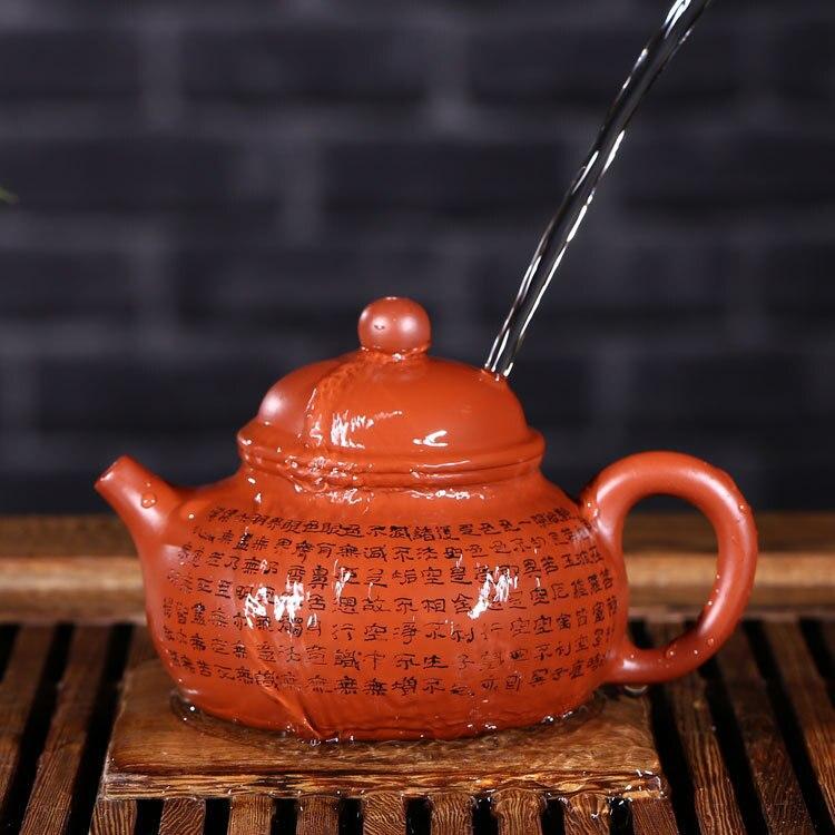 Venta al por mayor yixing recomendado puro manual desvestido mineral dhongpao corazón sutra día olla de kung fu Té juego de regalo - 3