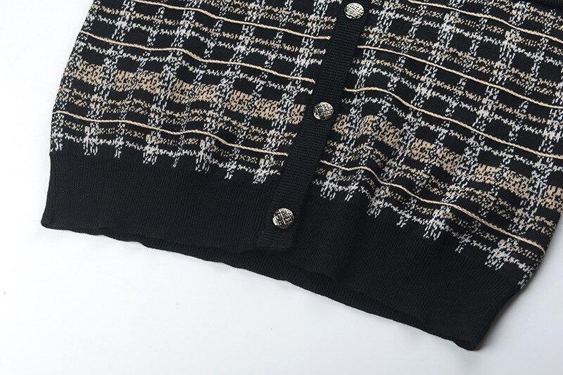 Nouveau Plaid Cardigans V Couture Cou Manteaux Tricoté Fomolayme Haute Femmes 2018 Adx4HZnSZ