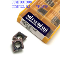 כלי קרביד כלי 20PCS CCMT09T308 / CCMT32.52 VP15TF / US735 מוסיף קרביד פנימי פן כלי הפיכת endmills מחרטת כרסום CNC כלי חותך (3)