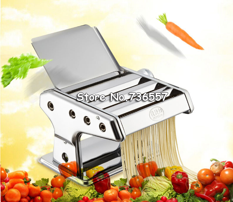 Stainless Steel Manual Noodle Press Household Pasta Making Machine Dough Roller Spaghetti Cutter 3 Blades high quality household manual hand dumpling maker mini press dough jiaozi momo making machine