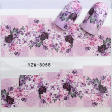 FWC Mixed Fashion Sex Black Lace Vine Charm Nail Art Stickers Water Transfer Decals Wraps Nail Art Tattoos DIY Printing