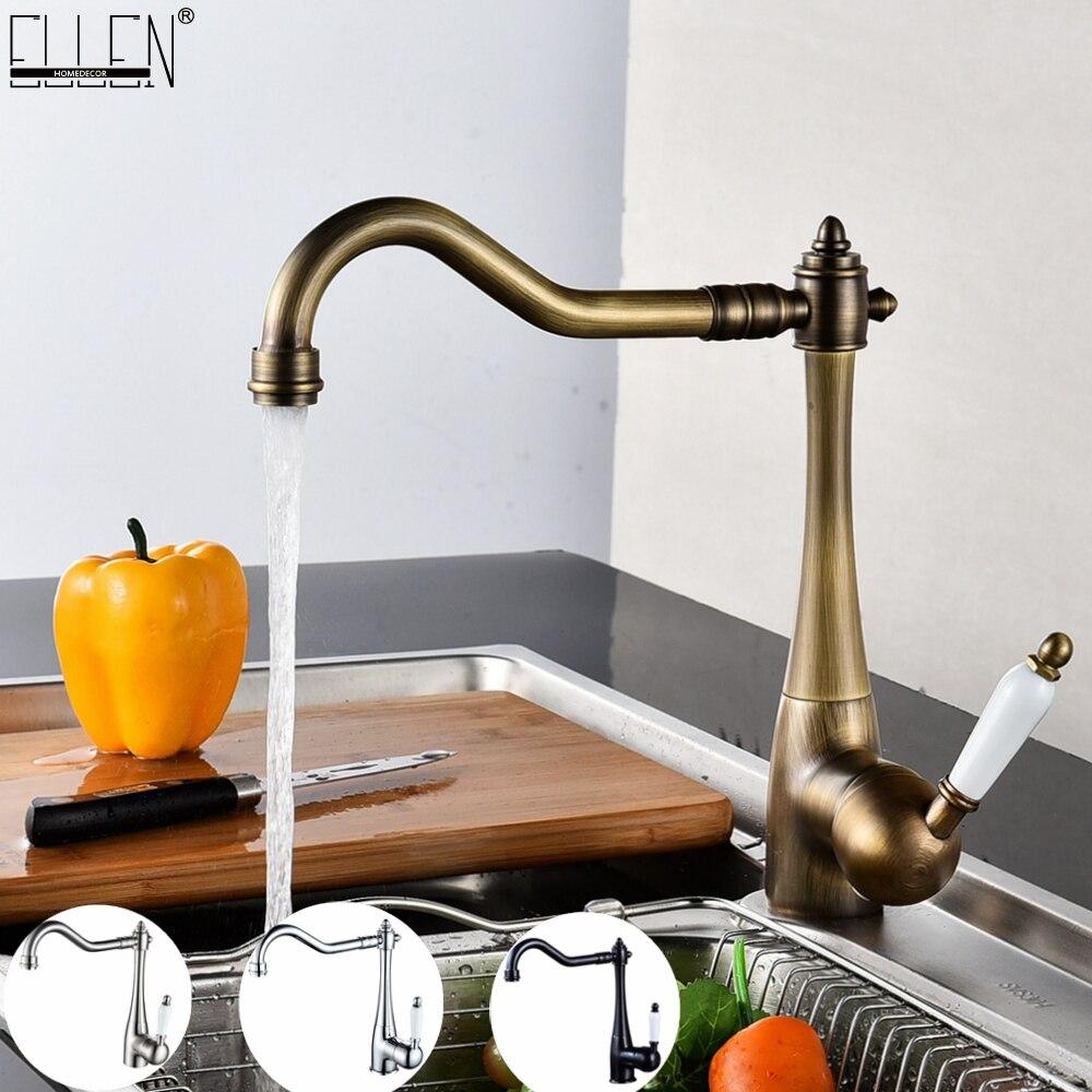 Torneiras de cozinha deck montado torneira misturadora 360 graus guindaste para torneira da cozinha rotação spray misturadora cozinha elk45