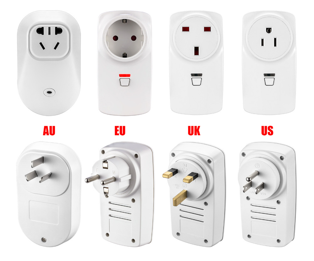 1PC G90B Plus APP Control Smart Wireless Socket EU/AU/US/UK Adapter Switch Plug Outlet for G90B Plus Wifi GSM Alarm System wireless remote control smart socket control power rf socket switch plug outlet for gsm 3g wifi golden security alarm systems page 2