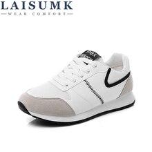 LAISUMK Casual Comfortable Shoes Womens 2019 New Arrival Harajuku Fashion Flats Antiskid Wear Resistant Females Breathable