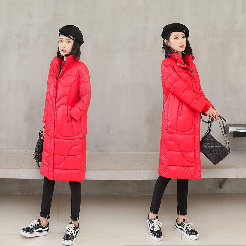 red Black Ba09 2019 Inverno Nuovo Lungo Donne Della Casual Modo Collare Cotone Slim Femminile Cappotto Sportiva Caldo Tuta Le Basamento Del Di A Giacca Sesso Pakas Coreano Medio 4p4FqwP