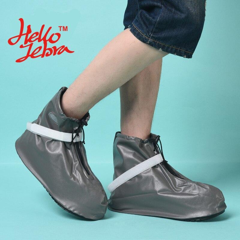 New Men Rain Shoes Covers Flat Ankle Boots Waterproof Casual Non-slip Antifouling Shoe Platform Men Solid Rain Boots 2016 Design