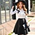 Dabuwawa winter high waist all match skirt