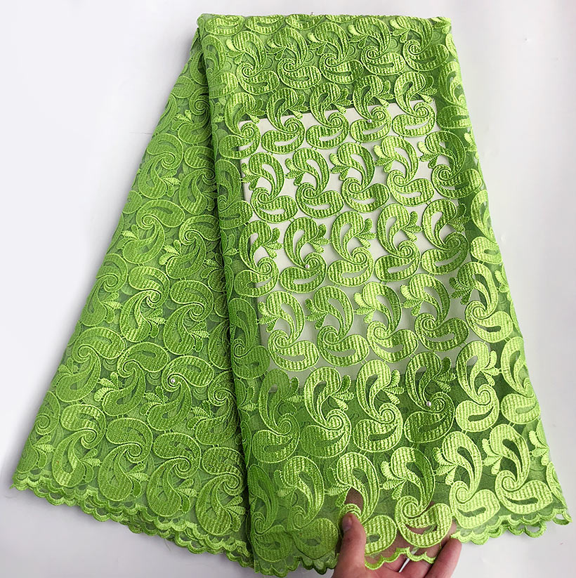 Super soft slippery Lemon green French lace African Swiss lace tulle fabric for aso ebi 5 yards/ pc 9109 good choiceSuper soft slippery Lemon green French lace African Swiss lace tulle fabric for aso ebi 5 yards/ pc 9109 good choice
