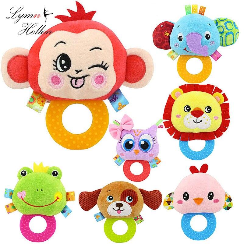 Toys & Hobbies 1pc 13cm Plush Rattles Baby Hand Grasp Bb Bell Cartoon Cute Frog Bear Dog Monkey Infant Baby Sleep Pacify Toy Customers First