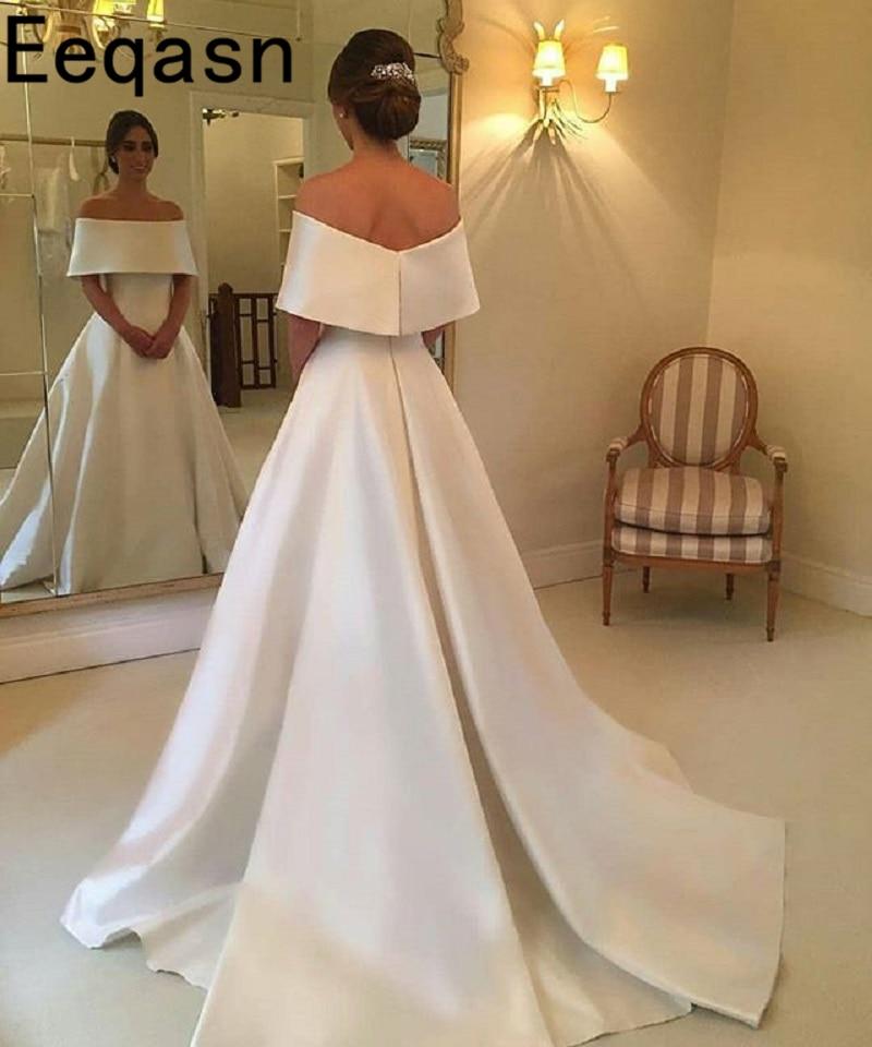 Vintage Off The Shoulder Wedding Dress 2018 Floor Length A