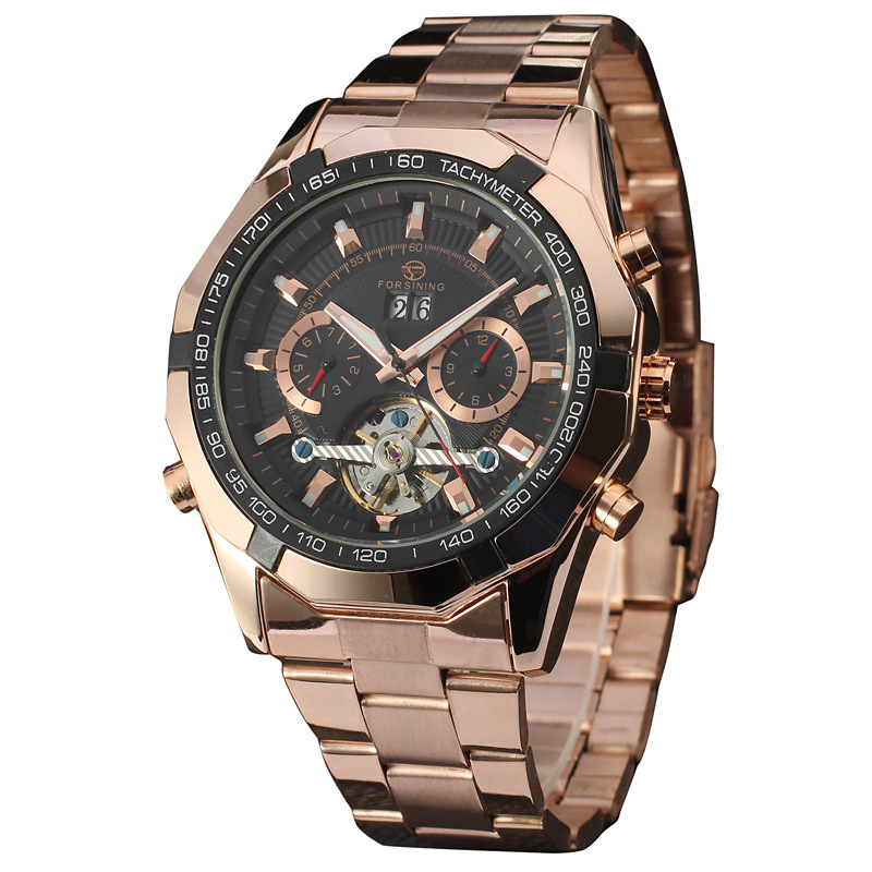 Luxury Brand Full Steel Automatic Mechanical Watch Men Skeleton Mechanical Wristwatch Men Casual Watch Erkek Kol Saati handmade new solid maple wood brown acoustic violin violino 4 4 electric violin case bow included