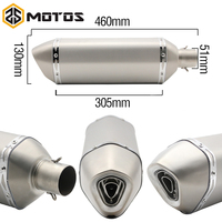 ZS MOTOS 51mm Diameter Motorcycle Exhaust long 460mm Ak Yoshimura Exhaust Muffler pipe FIT CB600 KTM690 ducati 848 ER6N|akrapovic yoshimura|yoshimura exhaustmotorcycle exhaust -