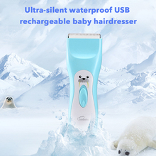 Baby Child Hair Clippers Professional Silent Usb Charge  Haircut Gloal Universal Waterproof Trimmer Cutting Machine