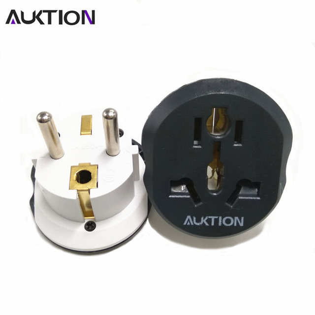 AUKTION 16A Universele EU (Europa) converter Adapter 250 V AC Travel Charger Wall Power Plug Socket Adapter Voor US UK AU Smart Tool