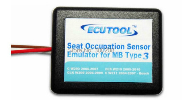 New MB Seat Occupation Sensor SRS Emulator Type 3 for Mercedes Benz W203, W209, W219, W211 Airbag Light Reset Tool+Free Shipping