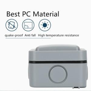 Image 3 - IP66 waterproof socket Multi function five hole Waterproof Outdoor Wall Power Socket 16A Standard Electrical Outlet Grounded