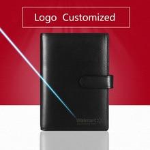 Genuine Leather Logo Custom A5 A6 Notebook Cowhide Travelers