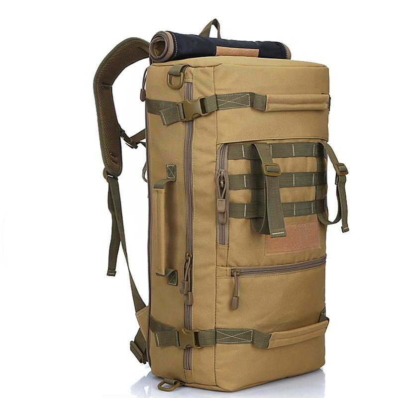 50L Waterproof Military Backpack Women Men's Hiking Tactical Backpack 900D Nylon School Bag Climbing Sport Bag