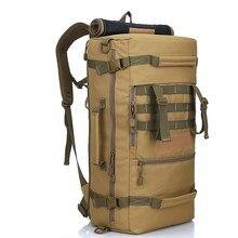 50L Waterproof Military Backpack Women Mens Hiking Tactical 900D Nylon School Bag Climbing Sport