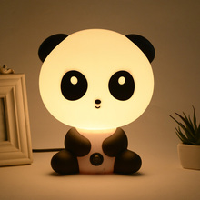 Lámpara de dormir con enchufe EE. UU./UE para habitación de bebé, Panda/perro/oso, luz de dibujos animados, lámpara de cama para niños para regalos CLH @ 8