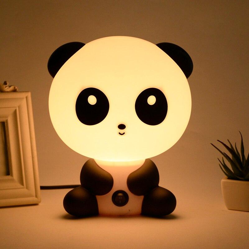 US/EU Plug Night Sleeping Lamp Baby Room Panda//Dog/Bear Cartoon Light Kids Bed Lamp For Gifts CLH@8