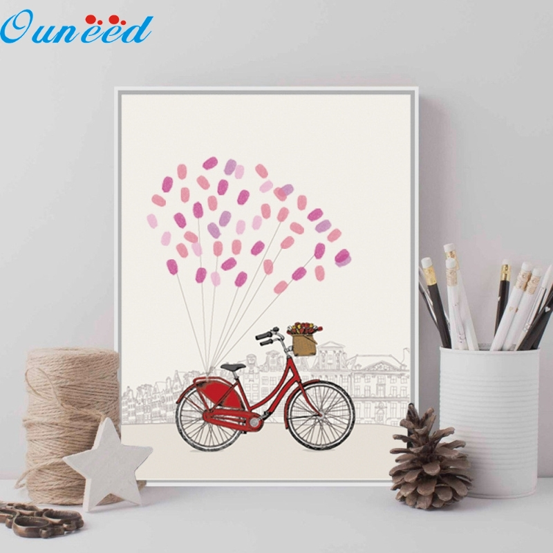 Ouneed Happy Fingerprint Canvas Guest Book Wedding Birthday Party Fingerprint Tree Ink 1 Piece 30x42cm personalize wedding tree guest book alternative wedding tree fingerprint guestbook thumbprint books get 6 ink pads free