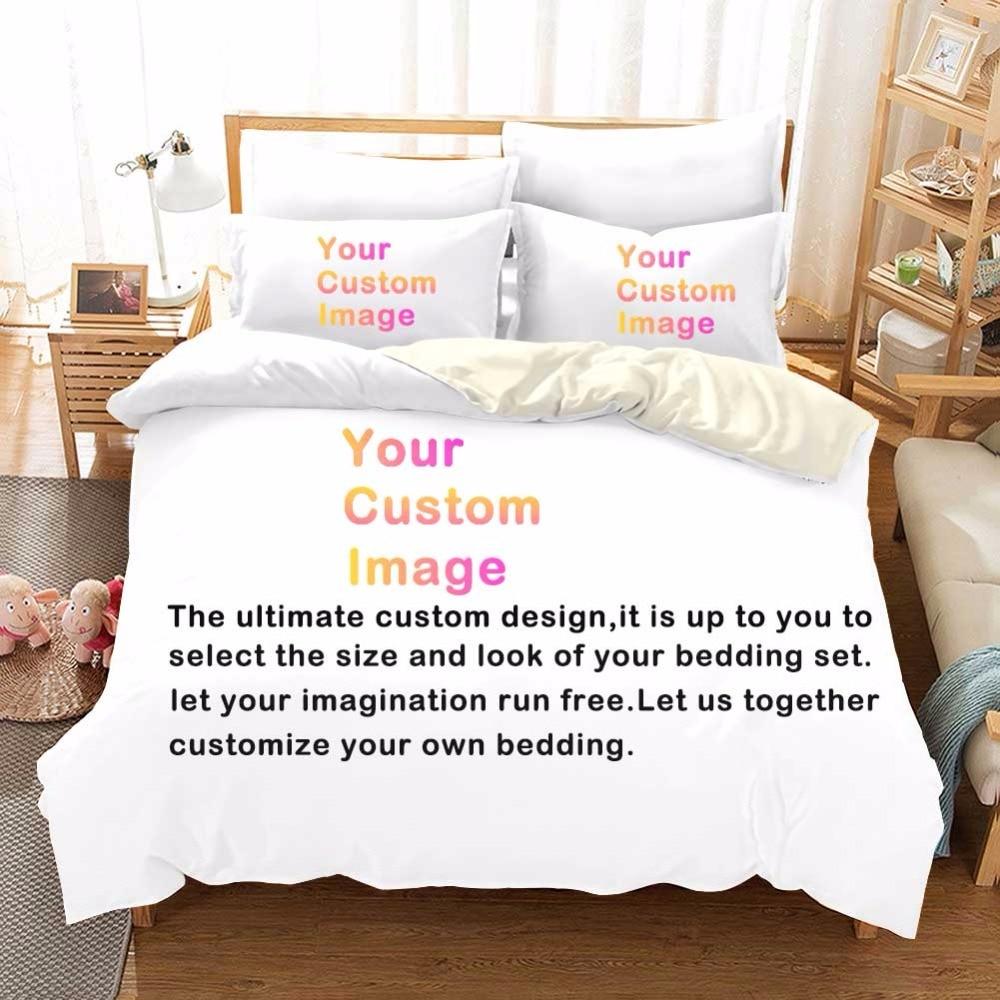 Persoonlijke Custom 3D Digitale Afdrukken Beddengoed Set Eigen Kunstwerk & Design & Foto F-in Beddengoed sets van Huis & Tuin op  Groep 1