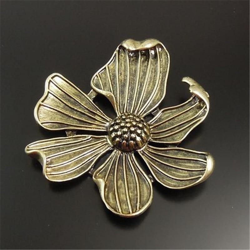 GraceAngie 5 STÜCKE Elegante Aweet Romantische Vintage Style Bronze Ton Legierung Große Blume Charme Anhänger Schmucksachen Für Dame